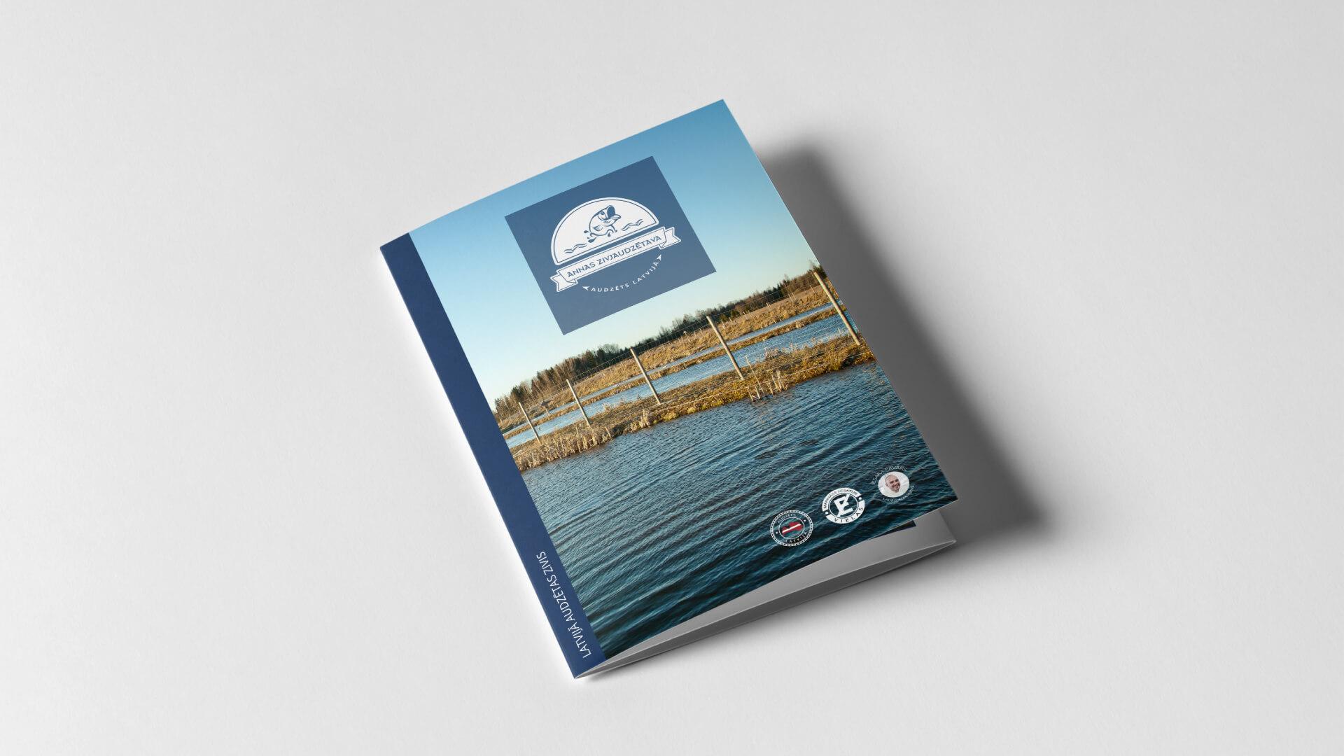 Annas Zivjaudzētava - brošūras dizains
