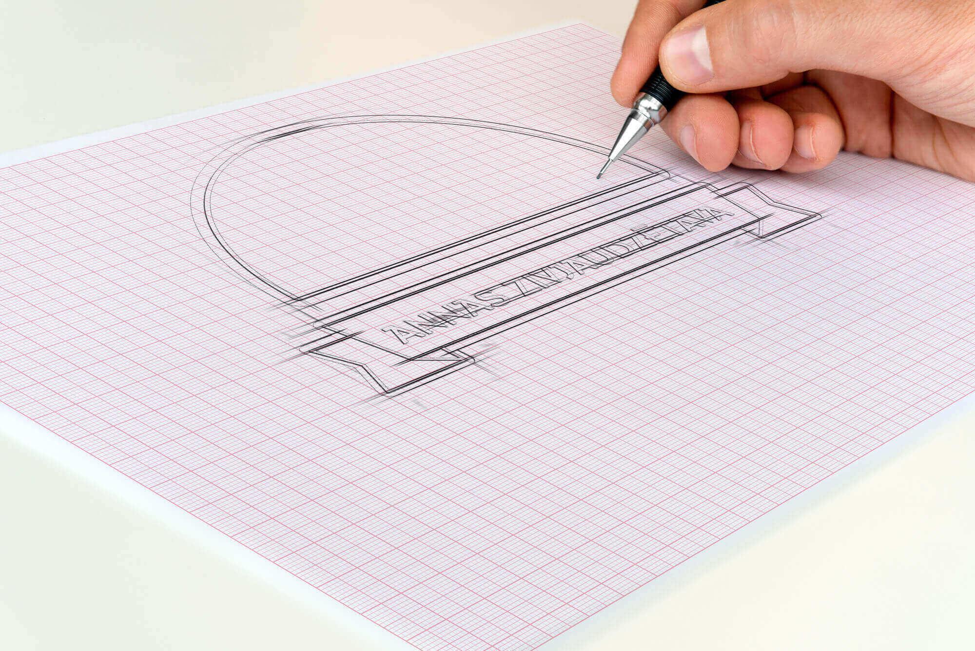 Annas Zivjaudzētava - logo skice