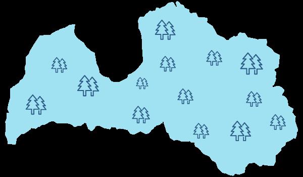 44% no Latvijas teritorijas klāj meži