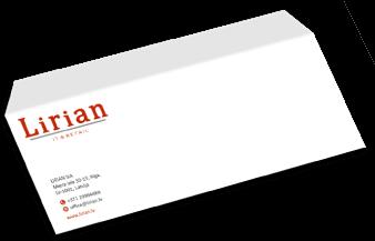 Uzņēmuma korporatīvā identitāte - aploksnes dizains