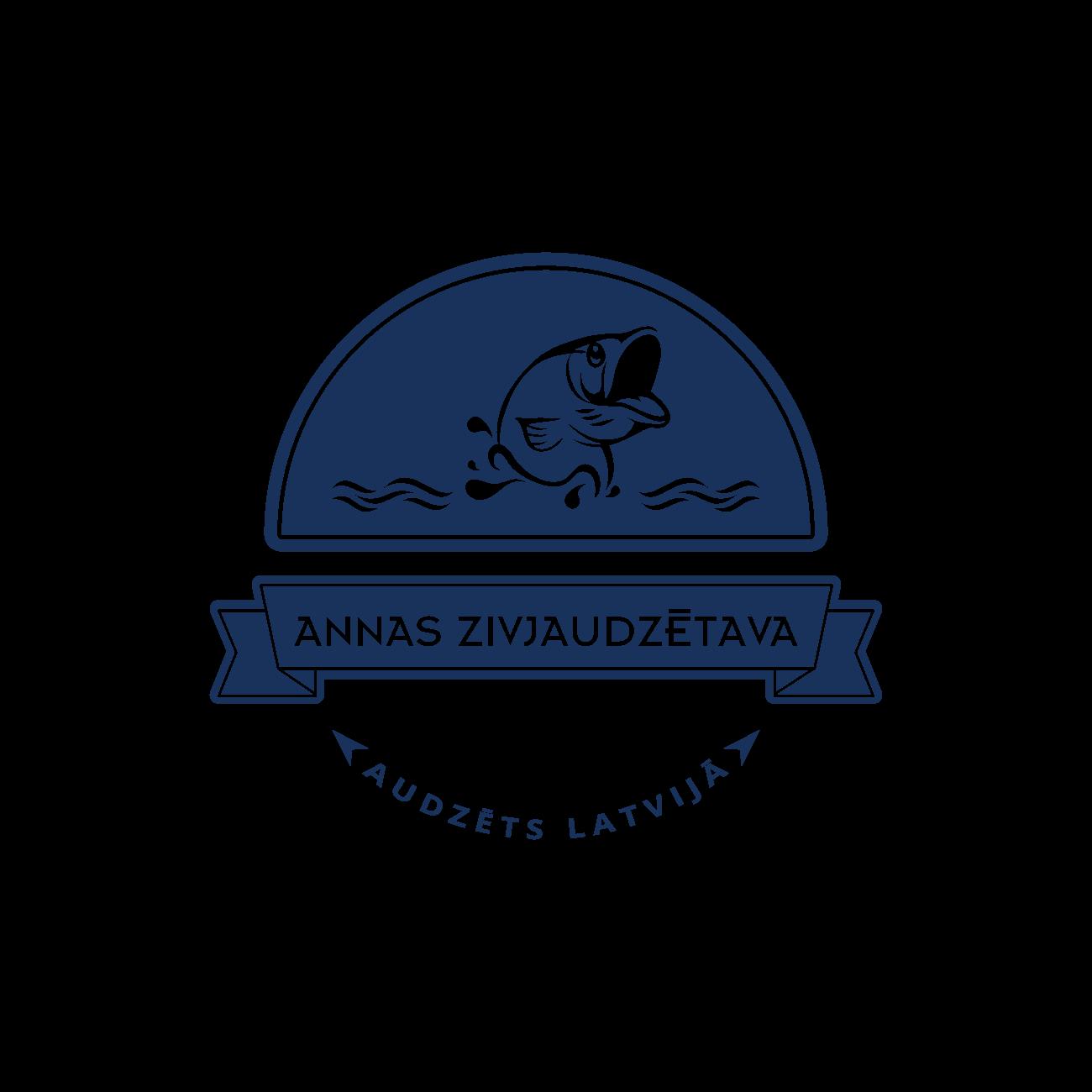 Annas Zivjaudzētava - logotips uz gaiša fona