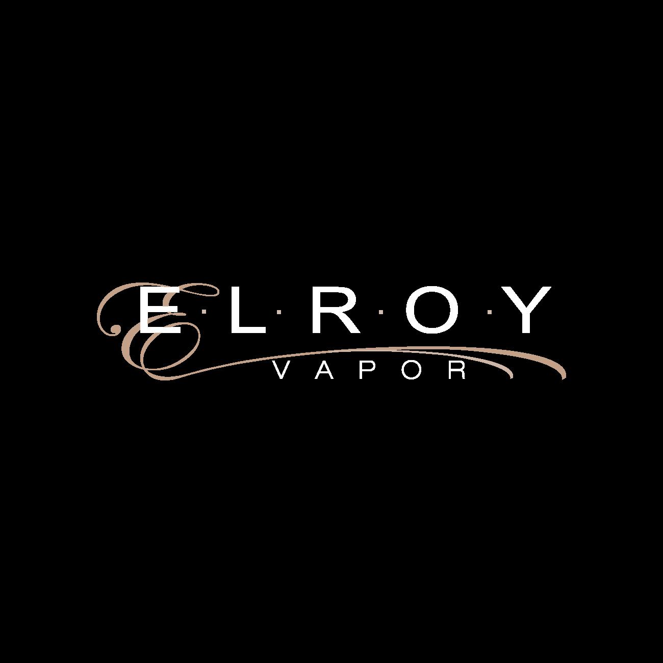 Elroy - logotips uz tumša fona